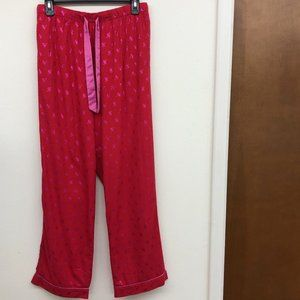 EUC Victoria's Secret Flannel Red Lounge Pants